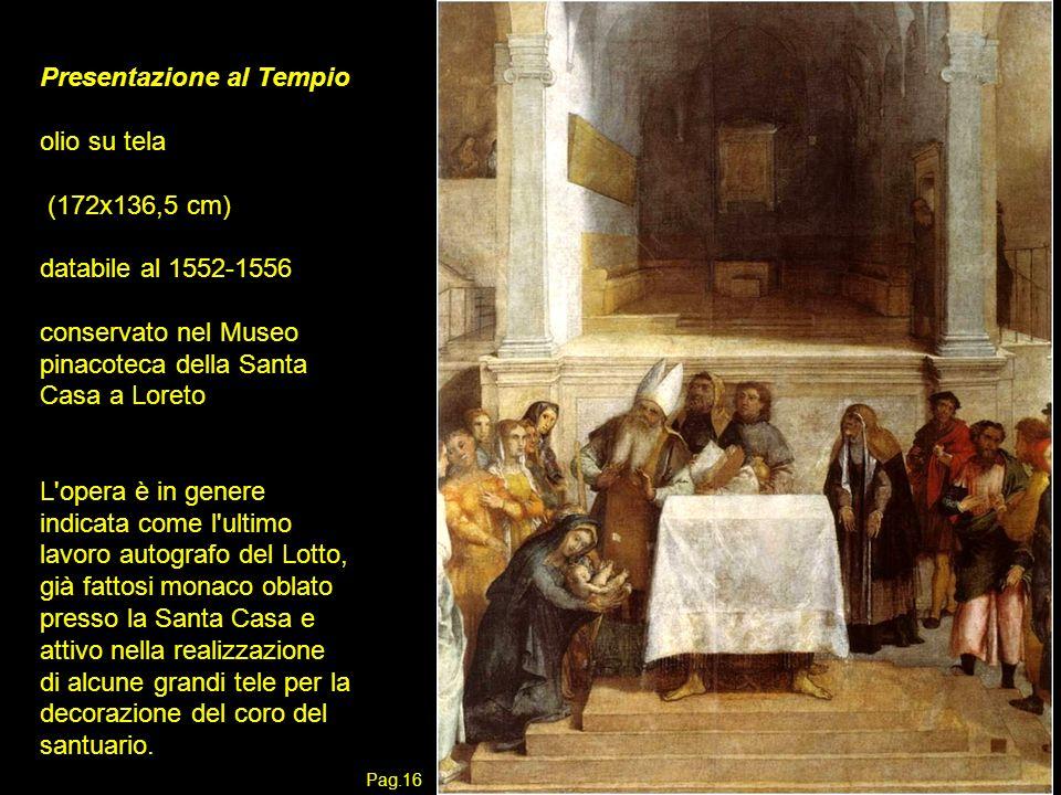 Presentazione al Tempio olio su tela (172x136,5 cm)