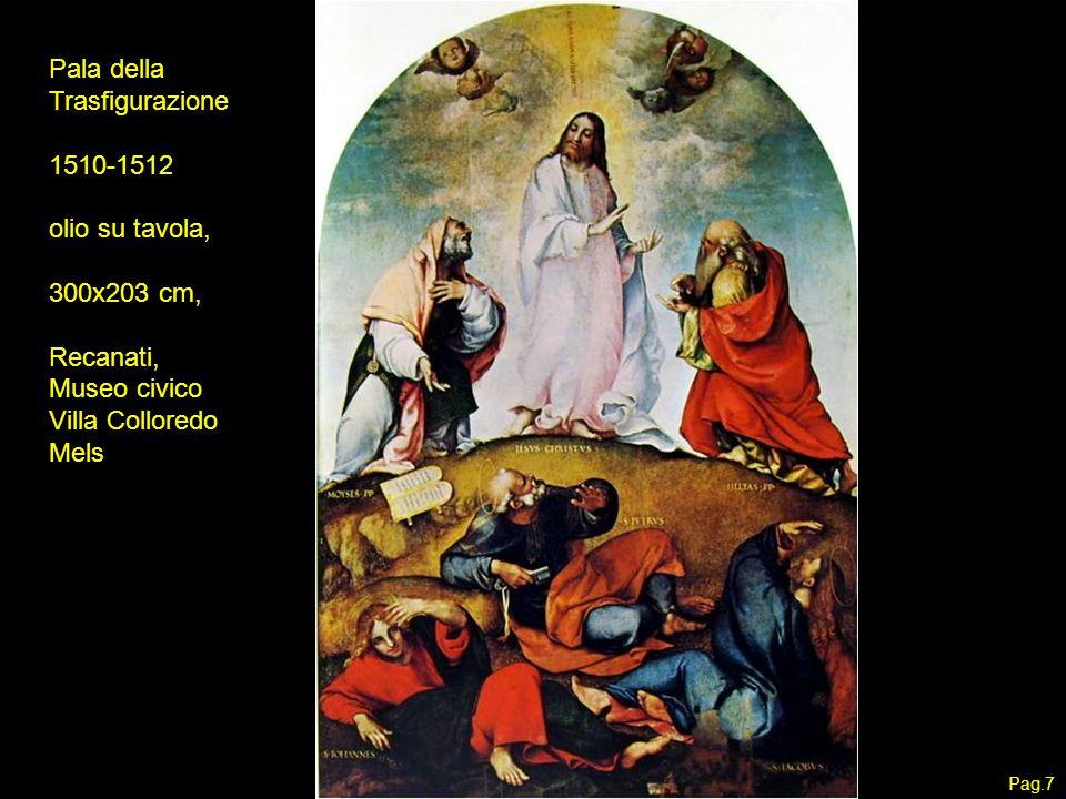 Pala della Trasfigurazione 1510-1512 olio su tavola, 300x203 cm,
