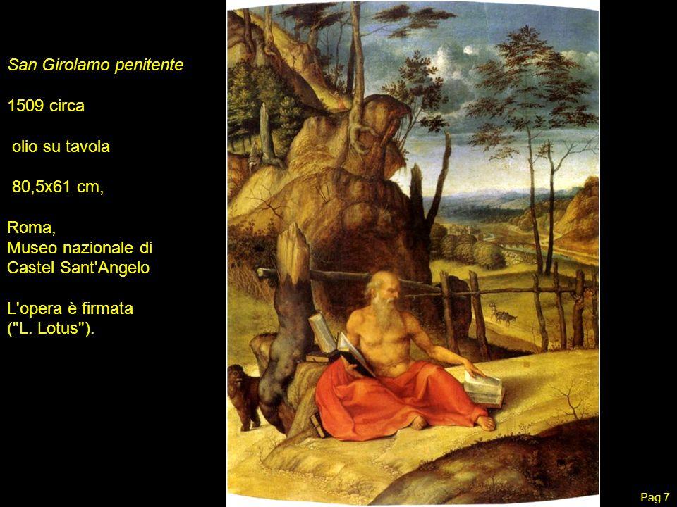 San Girolamo penitente 1509 circa olio su tavola 80,5x61 cm, Roma,