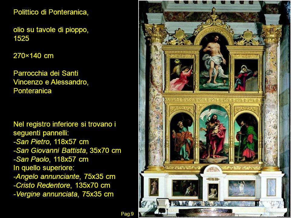 Polittico di Ponteranica, olio su tavole di pioppo, 1525