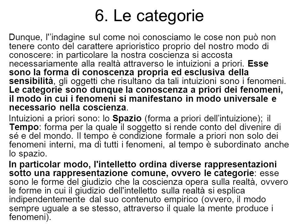 6. Le categorie