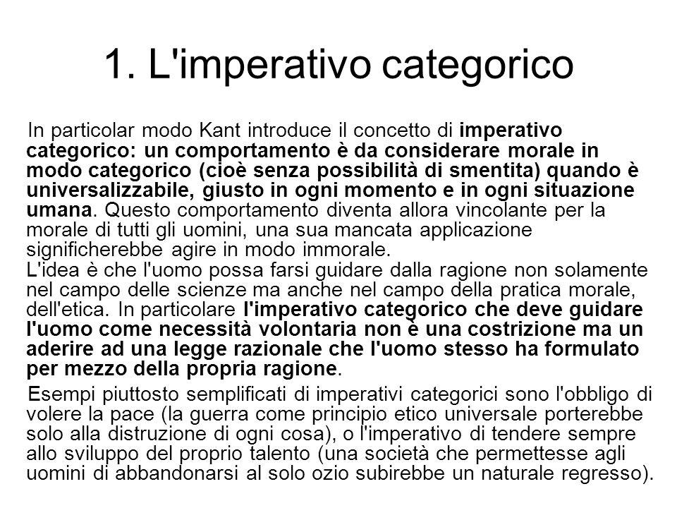 1. L imperativo categorico