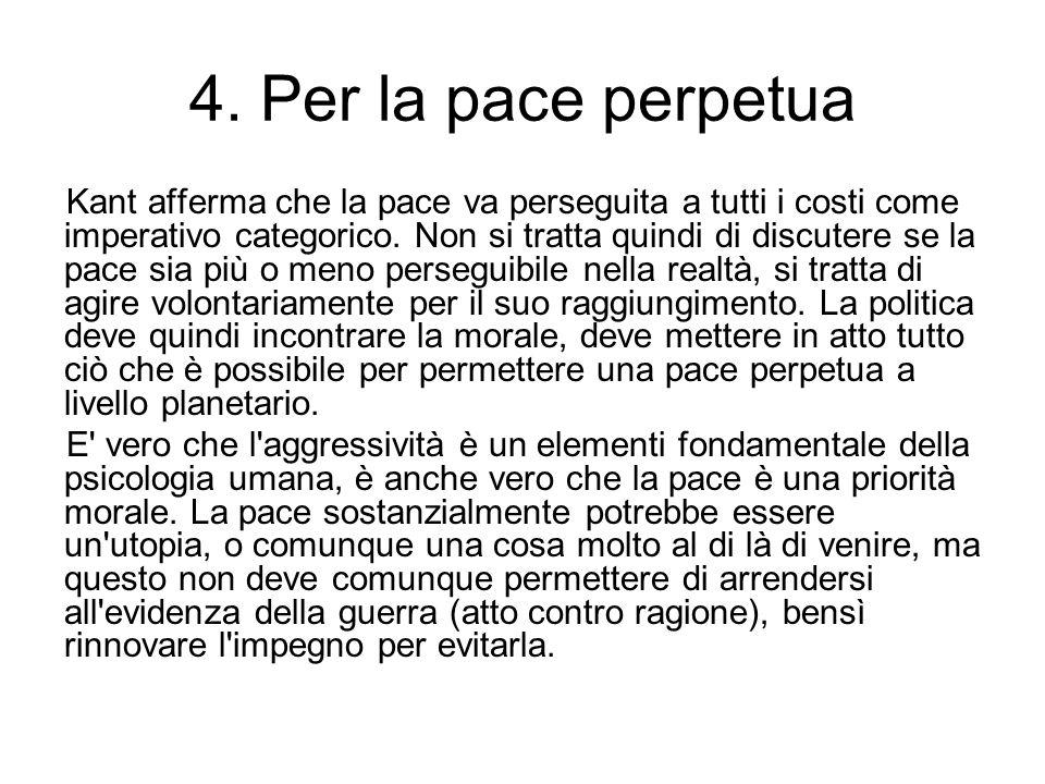 4. Per la pace perpetua