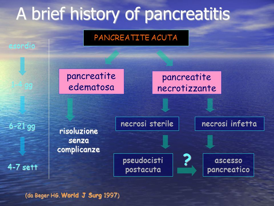 A brief history of pancreatitis