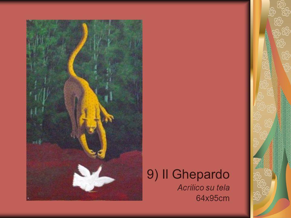 9) Il Ghepardo Acrilico su tela 64x95cm