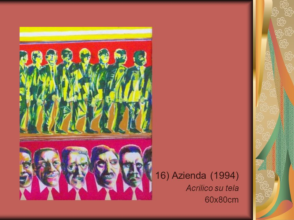 16) Azienda (1994) Acrilico su tela 60x80cm