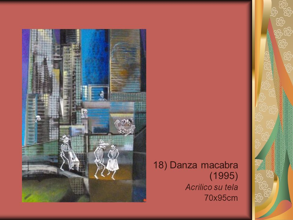18) Danza macabra (1995) Acrilico su tela 70x95cm