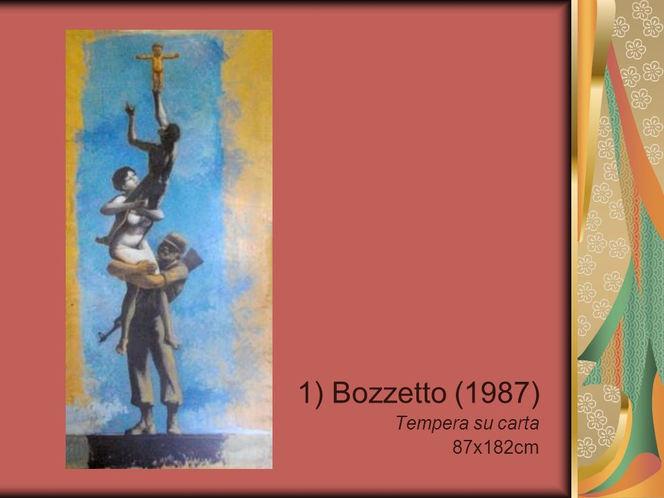 1) Bozzetto (1987) Tempera su carta 87x182cm