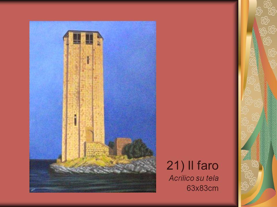 21) Il faro Acrilico su tela 63x83cm