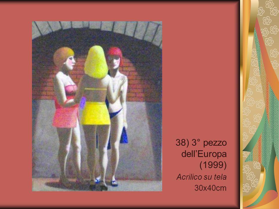 38) 3° pezzo dell'Europa (1999) Acrilico su tela 30x40cm