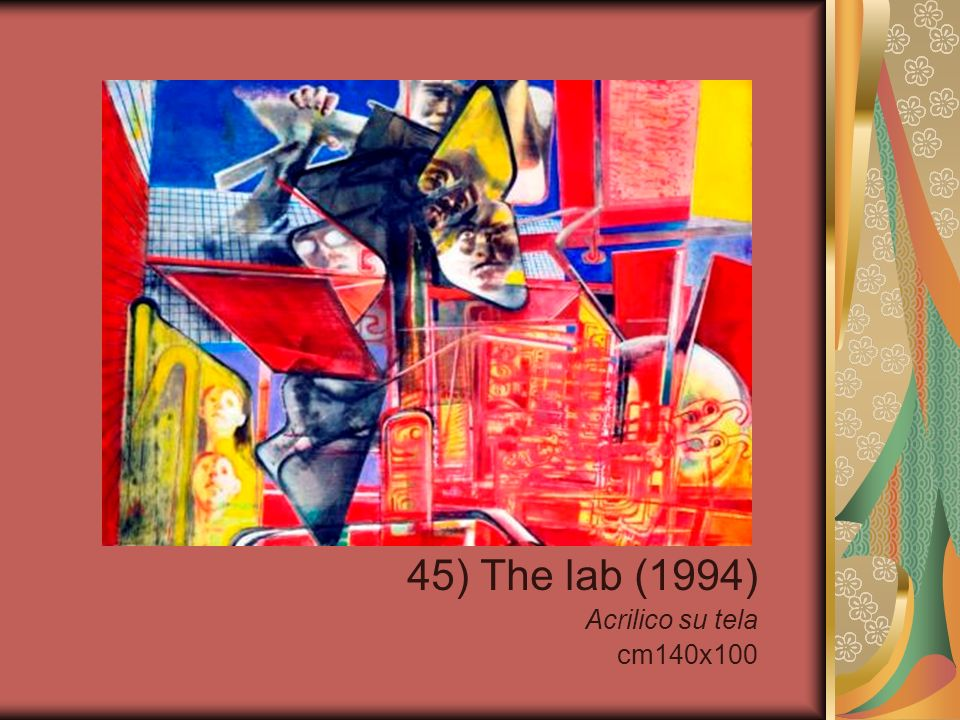 45) The lab (1994) Acrilico su tela cm140x100