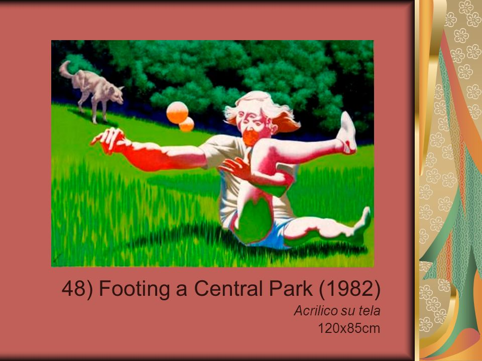 48) Footing a Central Park (1982) Acrilico su tela 120x85cm