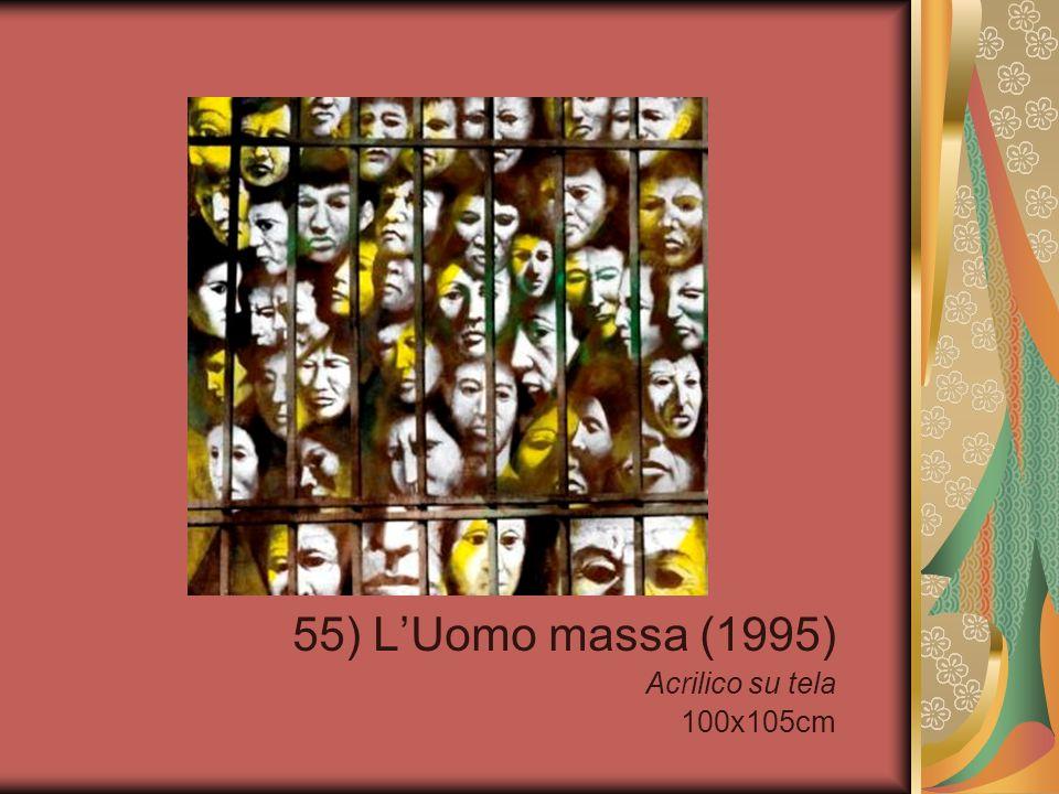 55) L'Uomo massa (1995) Acrilico su tela 100x105cm