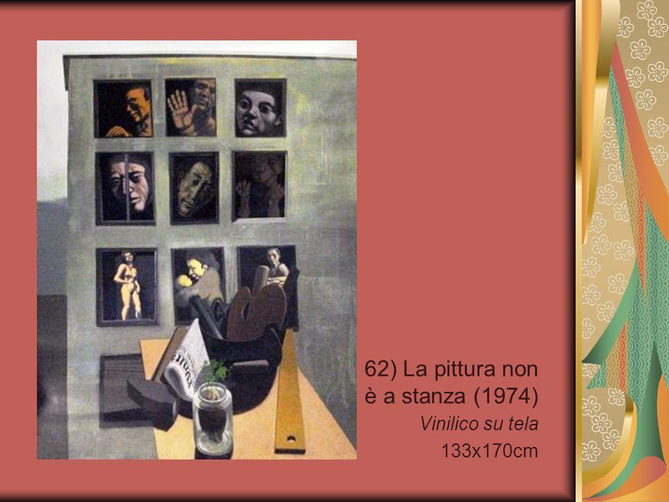 62) La pittura non è a stanza (1974) Vinilico su tela 133x170cm