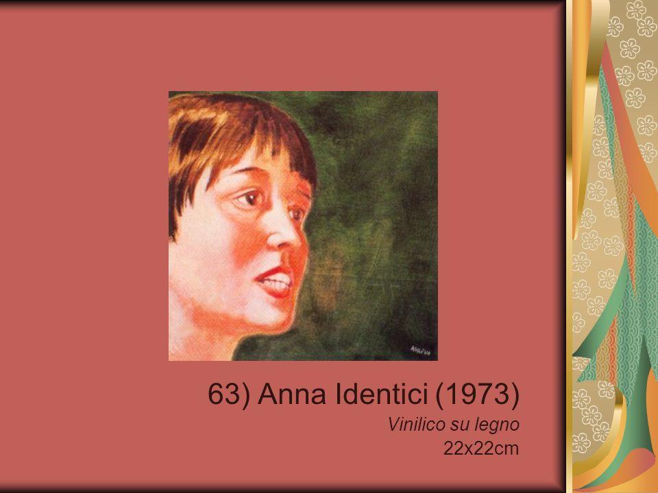 63) Anna Identici (1973) Vinilico su legno 22x22cm