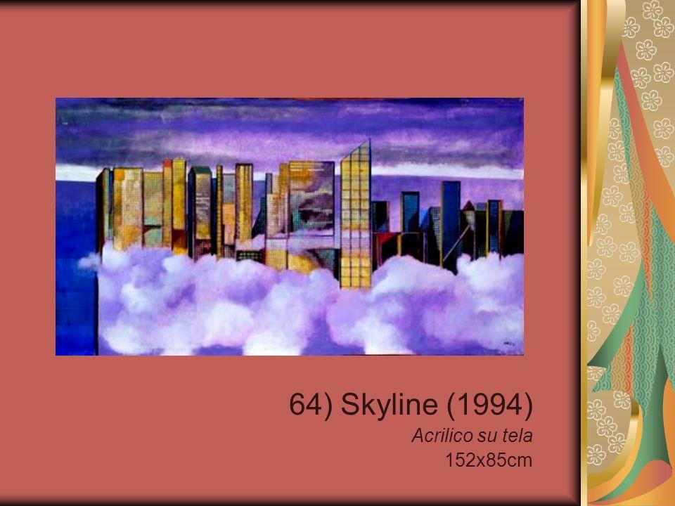64) Skyline (1994) Acrilico su tela 152x85cm