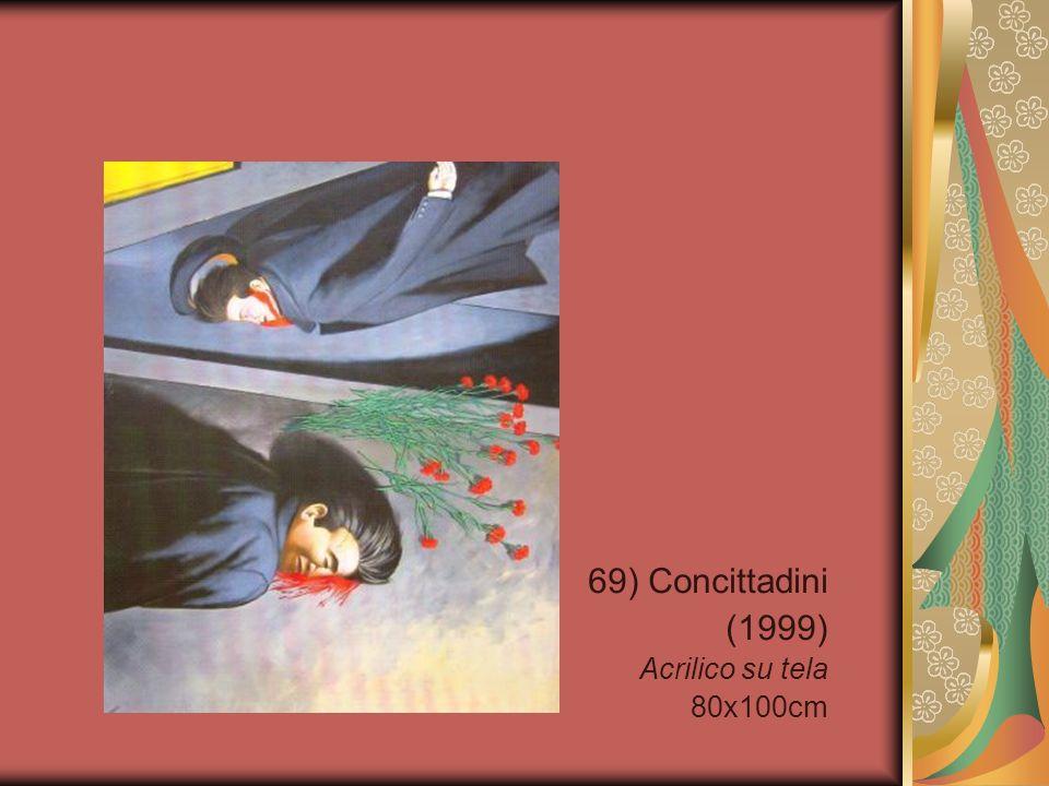 69) Concittadini (1999) Acrilico su tela 80x100cm