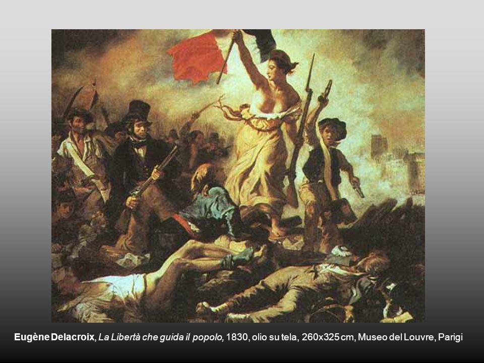 Eugène Delacroix, La Libertà che guida il popolo, 1830, olio su tela, 260x325 cm, Museo del Louvre, Parigi