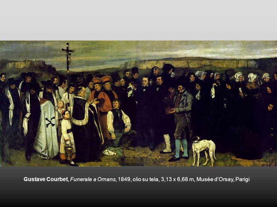Gustave Courbet, Funerale a Ornans, 1849, olio su tela, 3,13 x 6,68 m, Musèe d'Orsay, Parigi