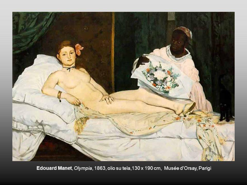 Edouard Manet, Olympia, 1863, olio su tela,130 x 190 cm, Musée d Orsay, Parigi