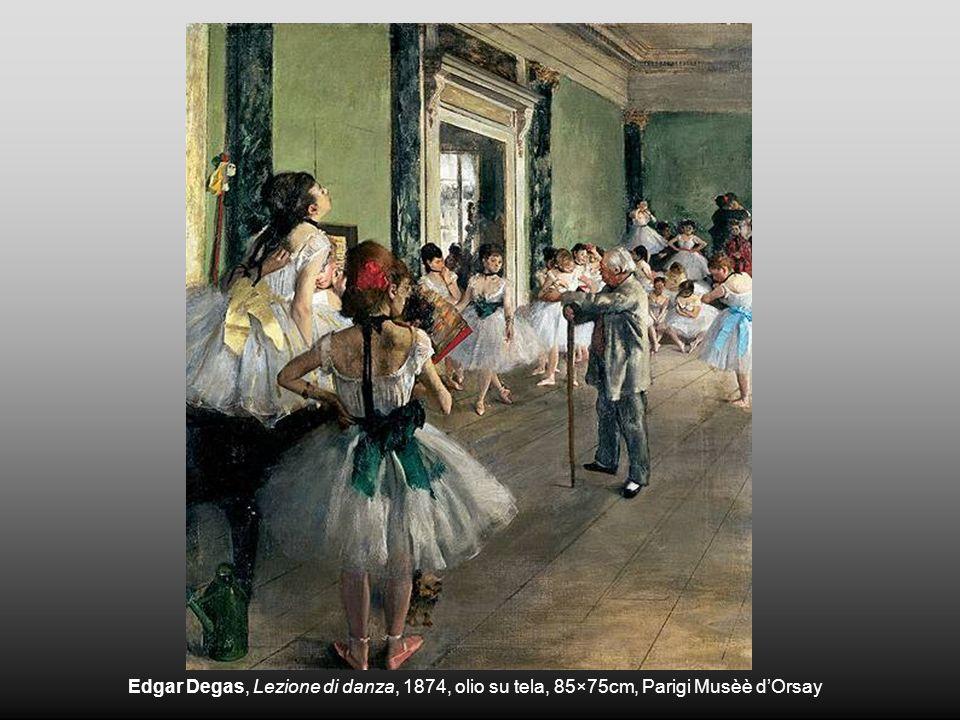 Edgar Degas, Lezione di danza, 1874, olio su tela, 85×75cm, Parigi Musèè d'Orsay