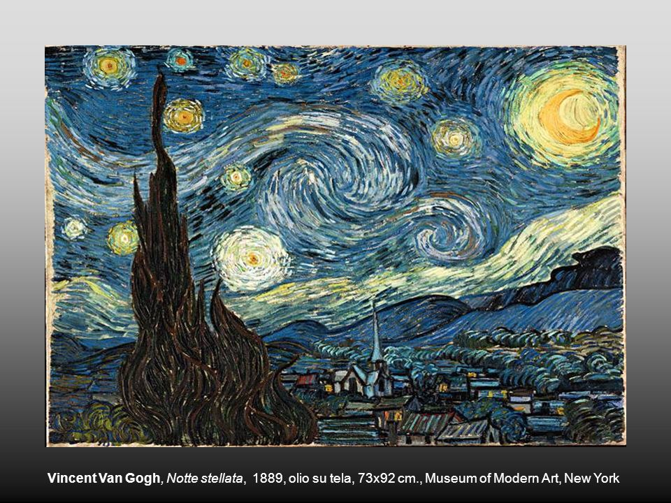 Vincent Van Gogh, Notte stellata, 1889, olio su tela, 73x92 cm