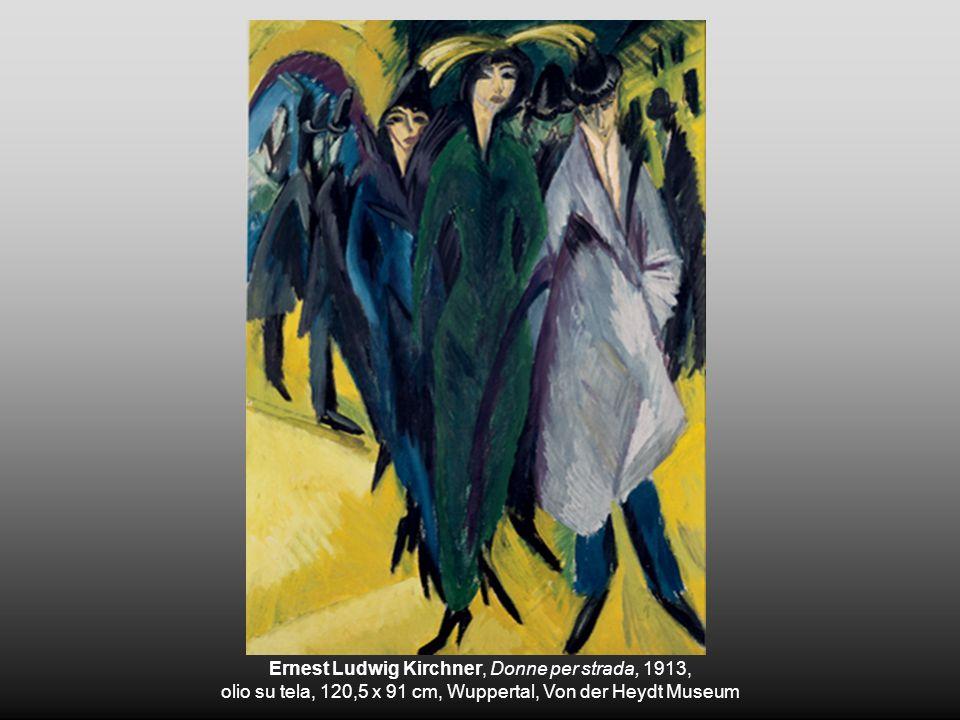 Ernest Ludwig Kirchner, Donne per strada, 1913,