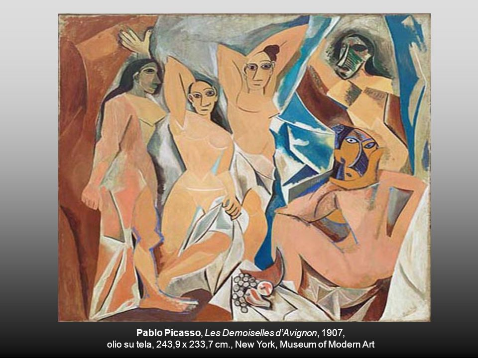 Pablo Picasso, Les Demoiselles d'Avignon, 1907,