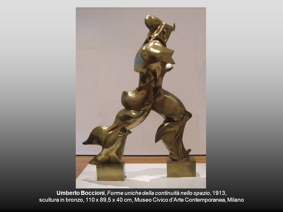 Umberto Boccioni, Forme uniche della continuità nello spazio, 1913,
