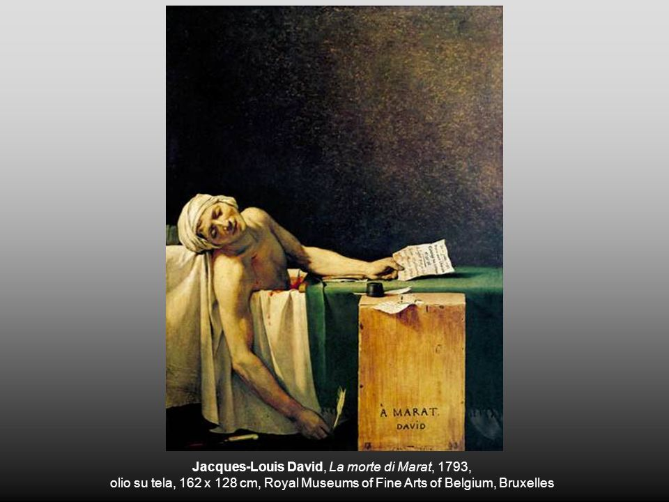 Jacques-Louis David, La morte di Marat, 1793,
