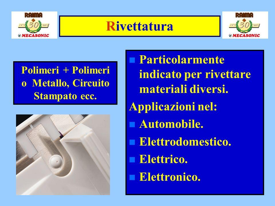 Polimeri + Polimeri o Metallo, Circuito Stampato ecc.