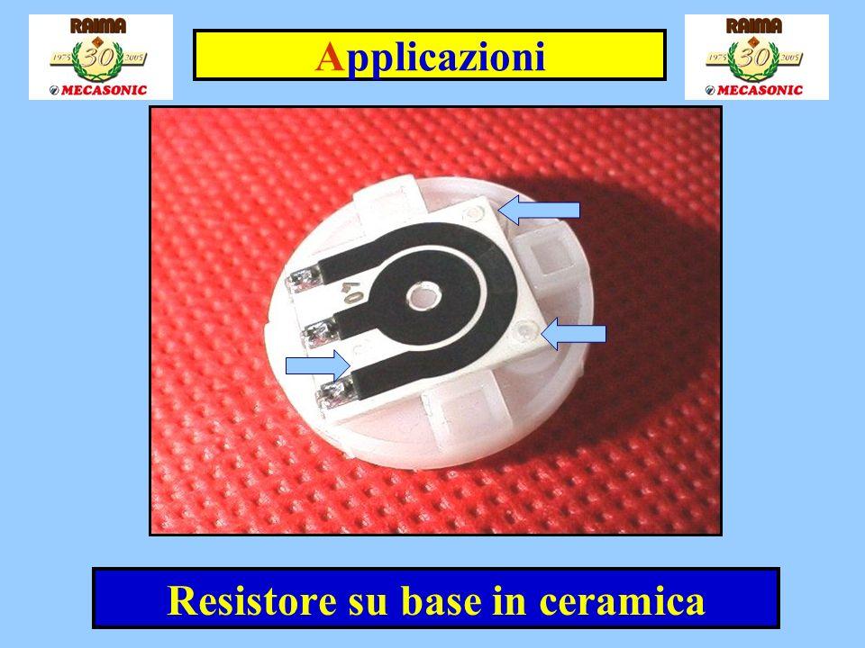 Resistore su base in ceramica