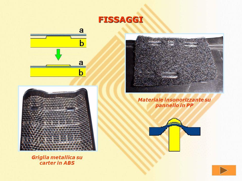 FISSAGGI Materiale insonorizzante su pannello in PP