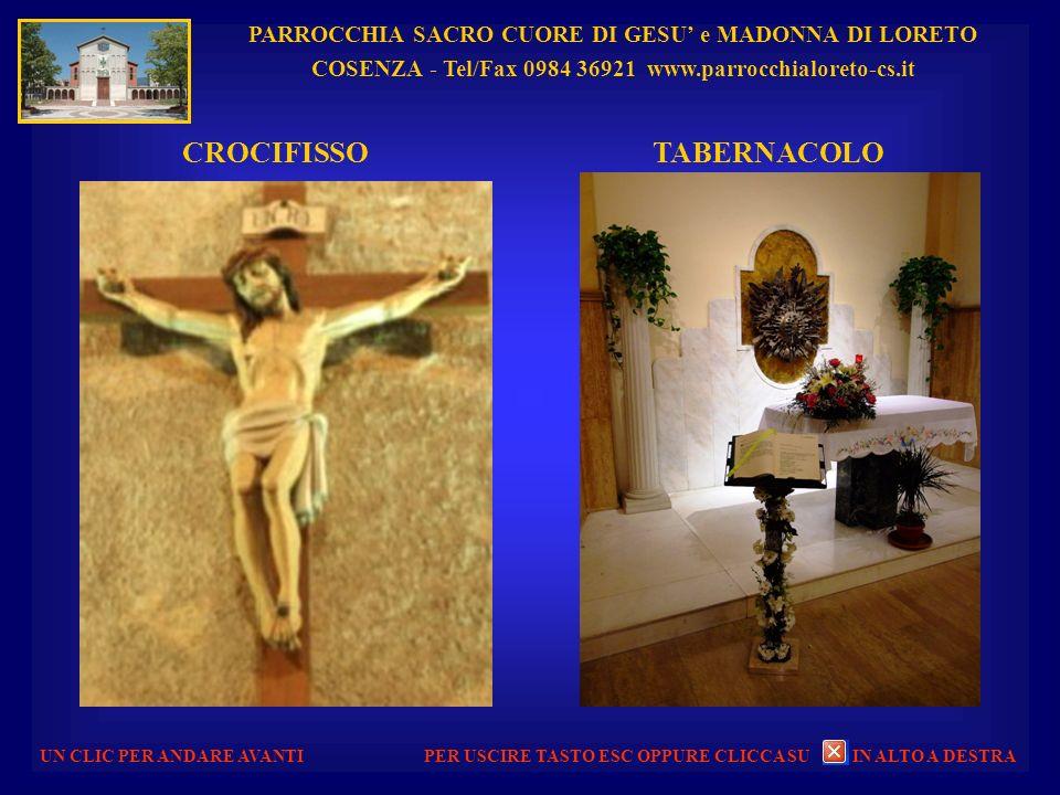CROCIFISSO TABERNACOLO