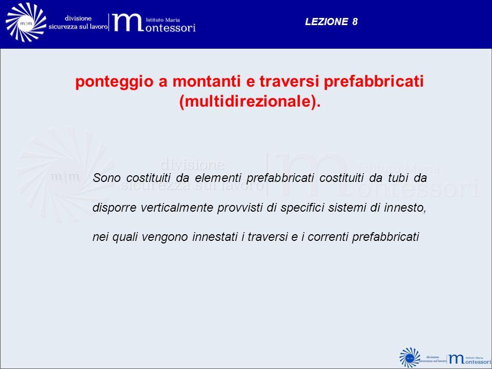 ponteggio a montanti e traversi prefabbricati (multidirezionale).