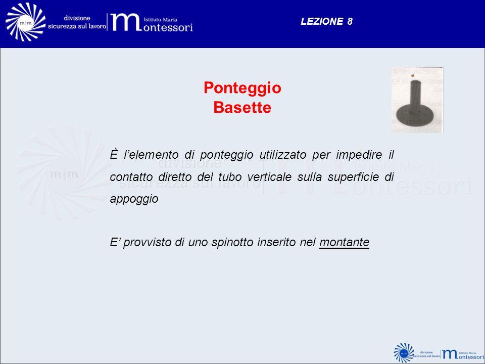 LEZIONE 8 Ponteggio. Basette.