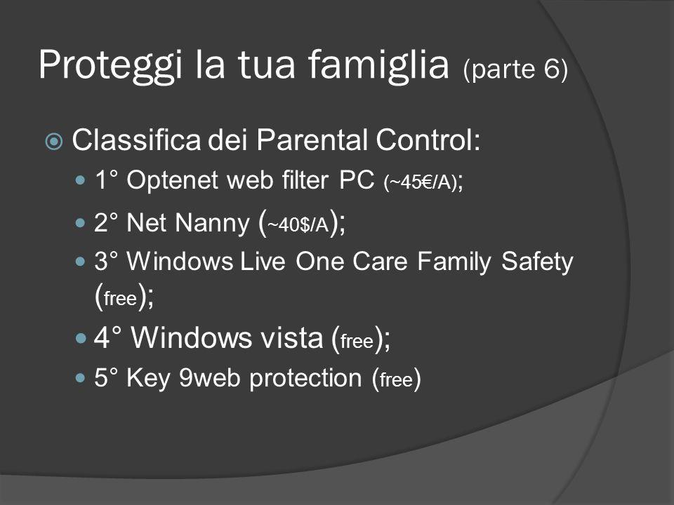 Proteggi la tua famiglia (parte 6)