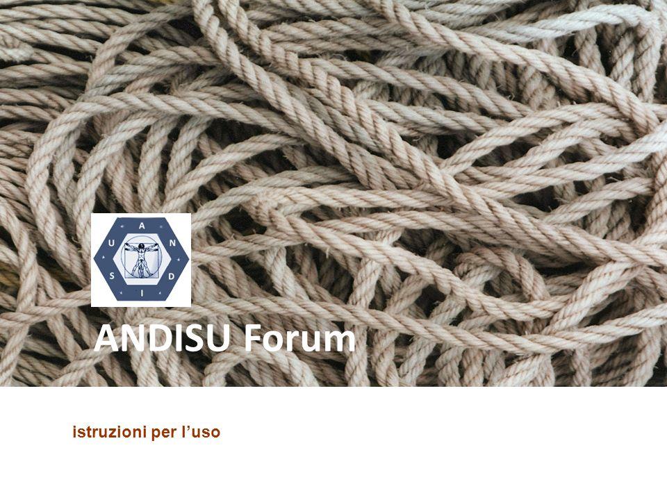 ANDISU Forum istruzioni per l'uso