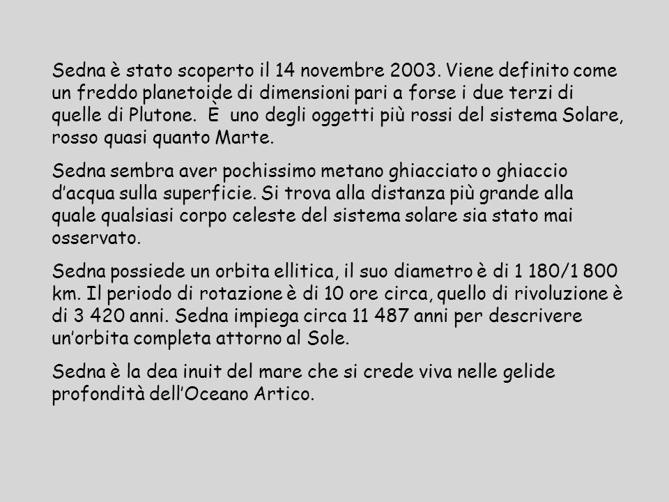 Sedna è stato scoperto il 14 novembre 2003