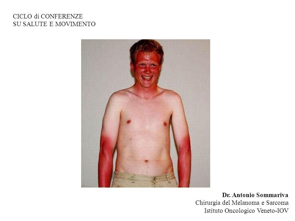 CICLO di CONFERENZE SU SALUTE E MOVIMENTO. Dr. Antonio Sommariva. Chirurgia del Melanoma e Sarcoma.