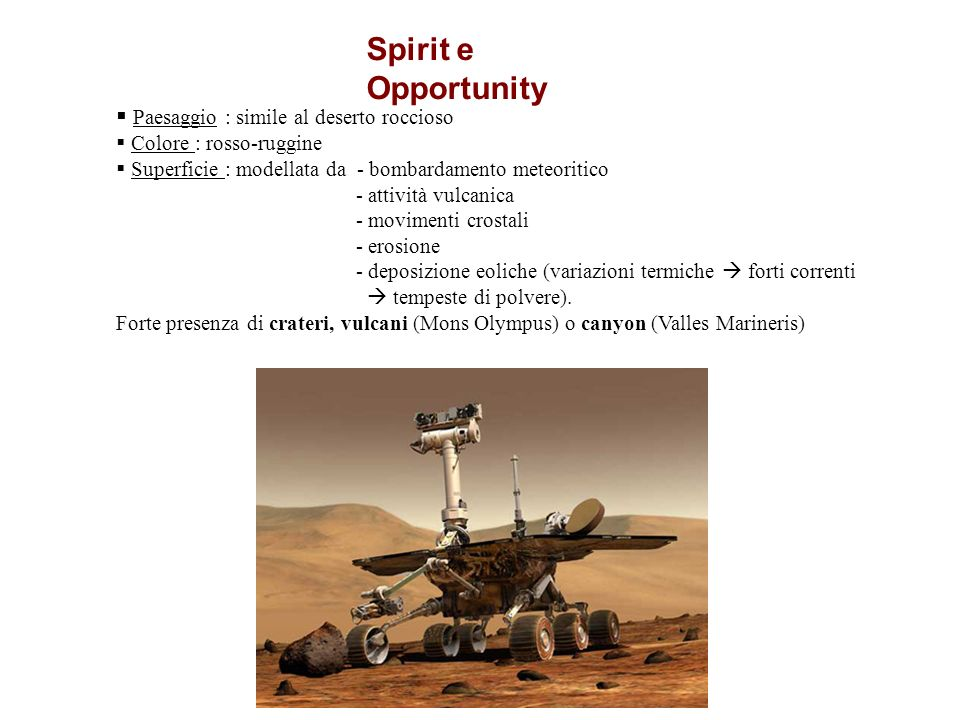 Spirit e Opportunity Paesaggio : simile al deserto roccioso