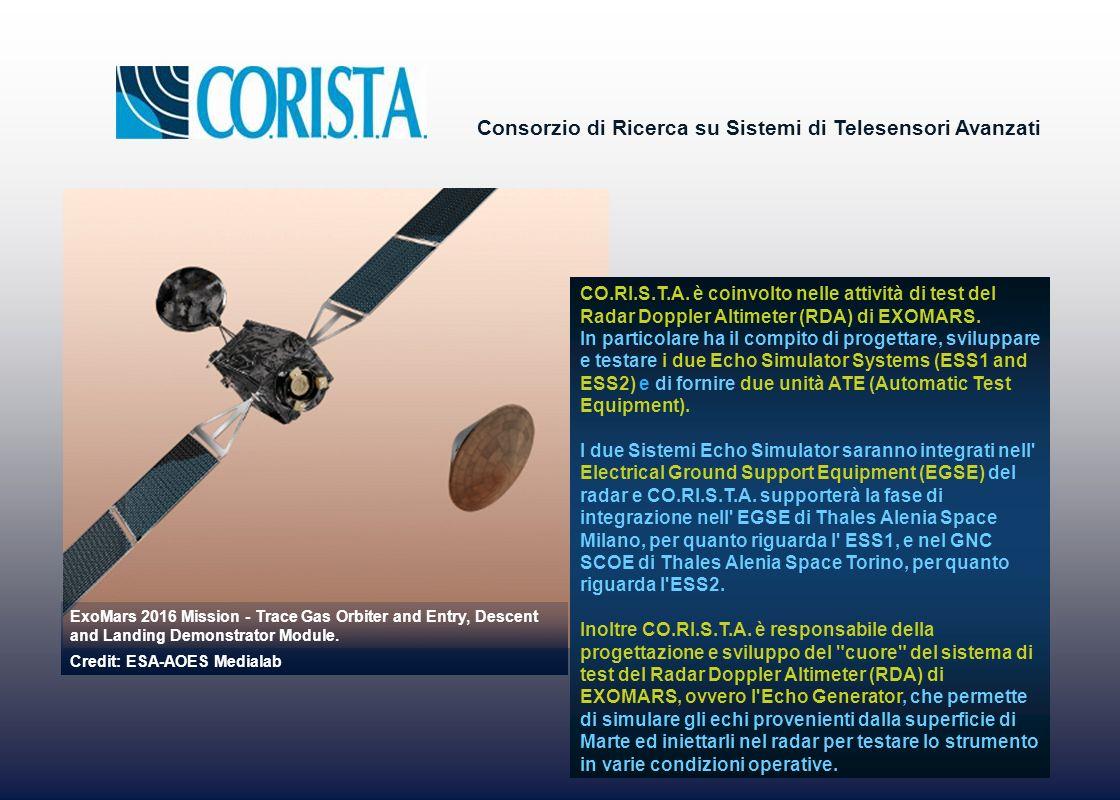 CO.RI.S.T.A. è coinvolto nelle attività di test del Radar Doppler Altimeter (RDA) di EXOMARS.