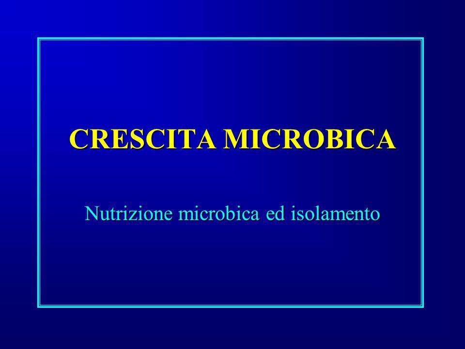 Nutrizione microbica ed isolamento