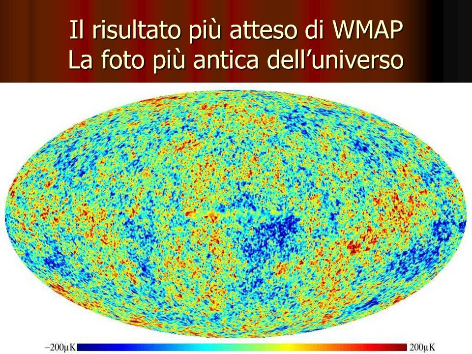 Il risultato più atteso di WMAP La foto più antica dell'universo