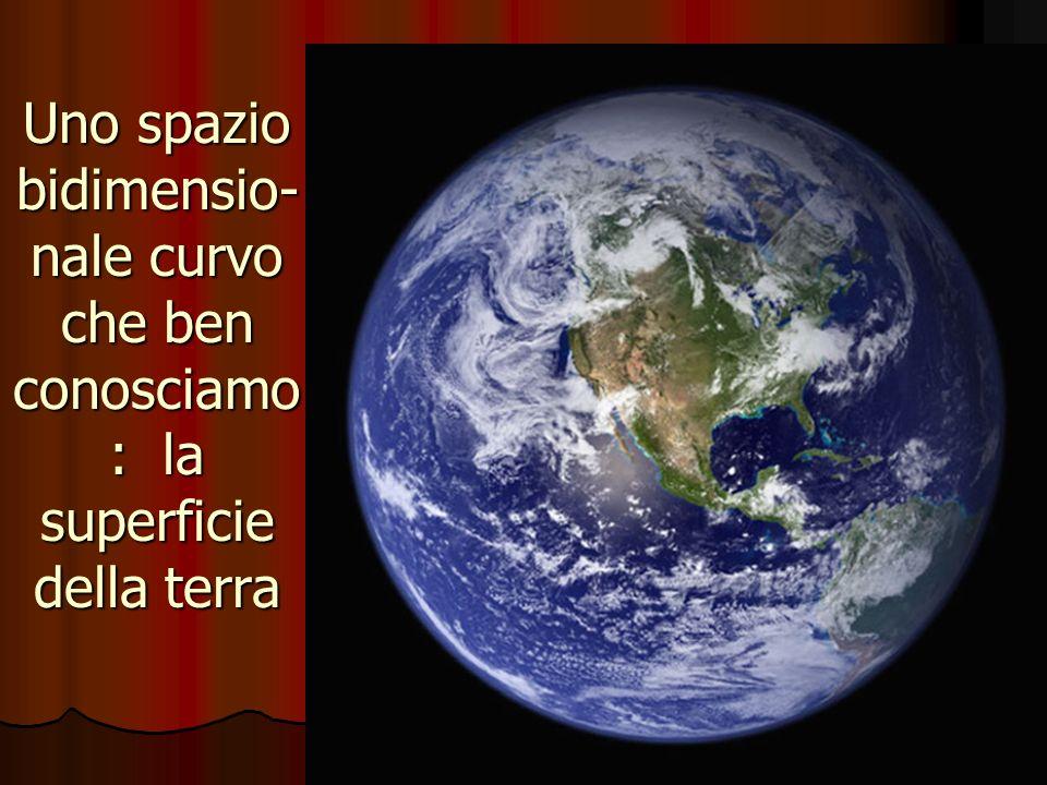 Uno spazio bidimensio-nale curvo che ben conosciamo: la superficie della terra