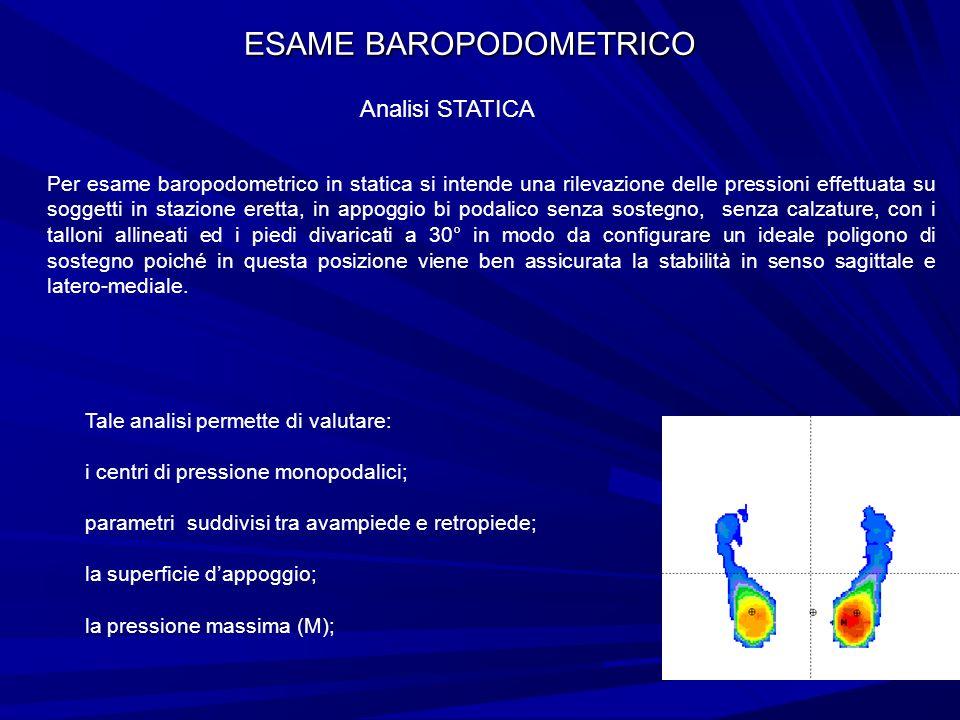 ESAME BAROPODOMETRICO