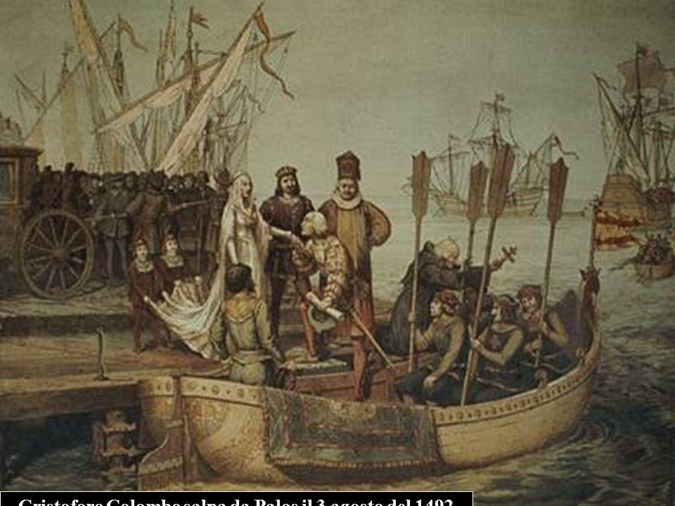 Cristoforo Colombo salpa da Palos il 3 agosto del 1492