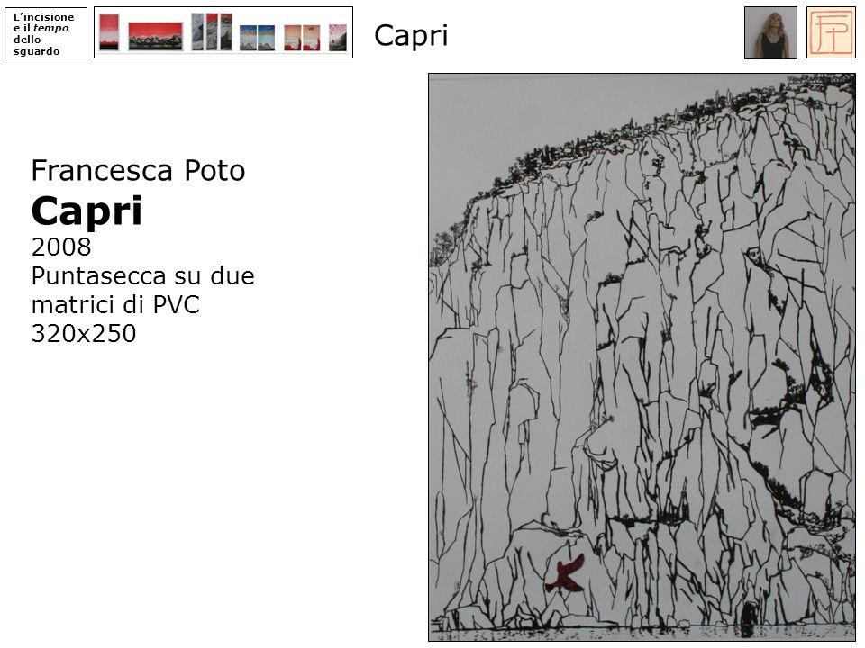 Capri Capri Francesca Poto 2008 Puntasecca su due matrici di PVC