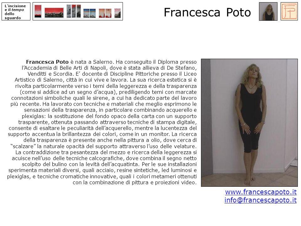Francesca Poto www.francescapoto.it info@francescapoto.it