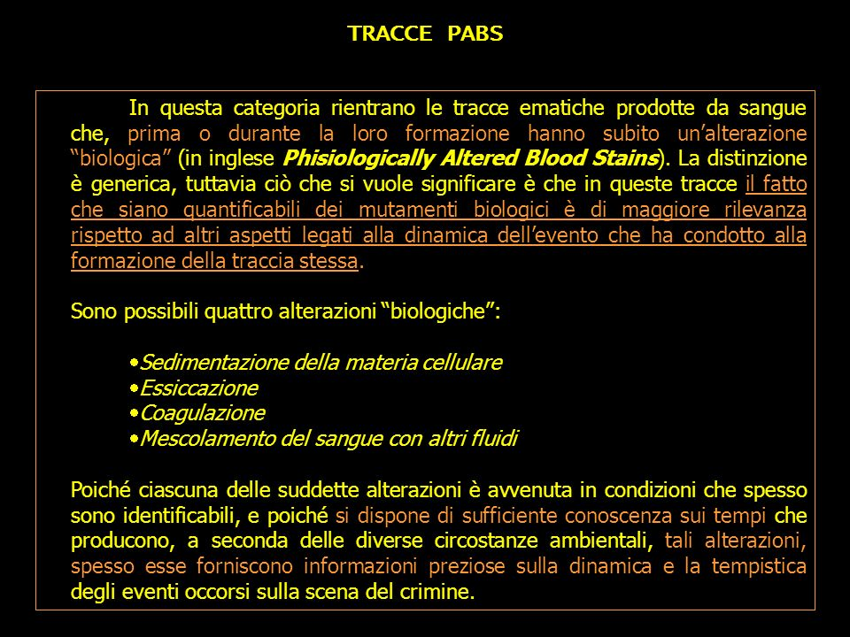 TRACCE PABS